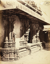 Corner portion of mandapa of Venkataramana Temple, Tadpatri